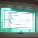 Panel for master bath in a Yarmouthport residence. Obscures view to and from outside deck.