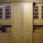 Custom cabinets for an interior design showroom in Hyannis.