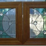 Simple but elegant leaded glass panels for a client's stereo cabinet.
