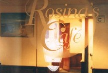 Close-up of etched glass panel for local Cape Cod cafe. Graphic pulled from their menu.